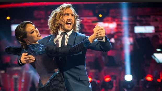 Comedian Seann Walsh and his Strictly Come Dancing partner, professional dancer Katya Jones, in action on the show