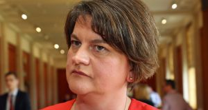 "DUP leader Arlene Foster clarified her recent controversial ""blood red"" lines remark as ""deep red"", in contrast to ""pink"" lines."