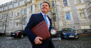 Paschal Donohoe at the announcement of Budget 2019. Photograph: Collins