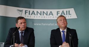 Fianna Fáil finance spokesman Michael McGrath  and Public Expenditure and Reform spokesman Barry Cowen criticised the budget announced on Tuesday. File photograph Nick Bradshaw for The Irish Times