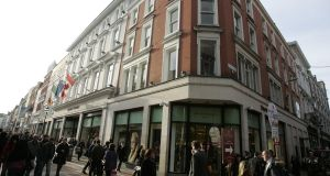 Brown Thomas on Grafton Street in Dublin, which is part of the Selfridges retail group. Photograph: Dara Mac Dónaill