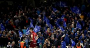 Joey Carbery during Munster's defeat to his former side Leinster at the Aviva Stadium. Photograph: Dan Sheridan/Inpho