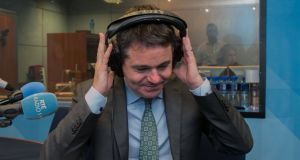 Minister for Finance Paschal Donohoe  in RTÉ Radio for the Today with Seán O'Rourke show. Photograph: Collins