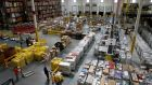 An Amazon fulfilment centre in Baltimore. These centres are where the majority of Amazon's 500,000 employees work. Photograph: Patrick Semansky/AP
