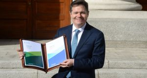 Minister for Paschal Donohoe  in advance of delivering Budget 2019. Photograph: Dara Mac Donaill/The Irish Times
