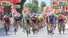 Sam Bennett comes in first to take stage two of the Tour of Turkey. Photo: Getty Images