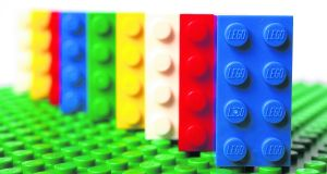 Lego bricks were marketed from the beginning as toys for boys and girls and, because of their size and the dexterity, were aimed at over sixes Photograph: Simon Dawson/Bloomberg via Getty Images