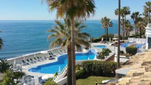 Spain: this Estepona house is in a front-line beach development that has three swimming pools and a gym
