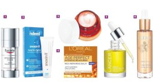 Products to try from Eucerin, Indeed Labs, Vichy, L'Oréal, Dr Lancer and Caudalie