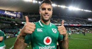 Ireland's Conor Murray celebrates after the series win over Australia in June. Photo: Dan Sheridan/Inpho