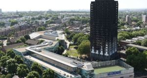 The scorched Grenfell Tower block in which 71 people perished on June 14th 2017.