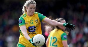 "Donegal's Yvonne Bonner:  ""Growing up I never imagined having the chance to play sport professionally."" Photograph: Tommy Dickson/Inpho"