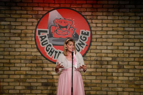 Emma Mhic Mhathuna appears at Laughter Lounge and shows her sense of humour. Photograph: Nick Bradshaw/The Irish Times