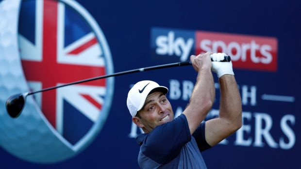 Francesco Molinari in action during the Pro-Am. Photo: Luke Walker/Getty Images