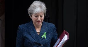 UK prime minister Theresa May: little room for manoeuvre. Photograph: Facundo Arrizabalaga/EPA