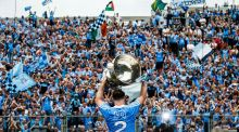 Dublin celebrate lifting the Sam Maguire after beating Tyrone in Croke Park in September. Photograph: Tommy Dickson/Inpho