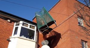 If you have a trampoline, make sure to secure it safely. Photograph: Dublin Fire Brigade/Twitter