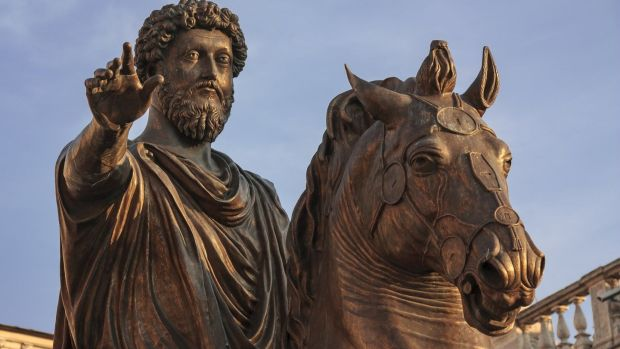 A statue of the Roman Emperor, Marcus Aurelius