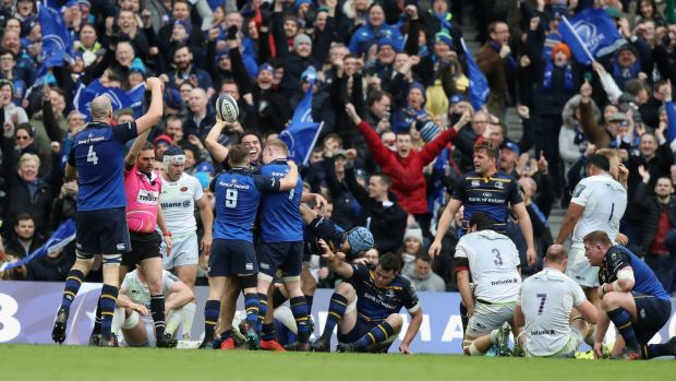 Leinster beat Saracens in last year's quarter-finals on their way to winning the trophy. Photo: David Rogers/Getty Images