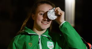 Niamh Coyne won silver in the women's 100m breaststroke in Argentina. Photograph:  Eóin Noonan/Sportsfile