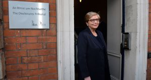Former minister for justice Frances Fitzgerald  at the Disclosures Tribunal in Dublin Castle in January. Photograph: Dara Mac Dónaill