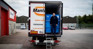 Haulier Stephen Heasley  at Manfreight  in Portadown, Co Armagh. Photograph: Liam McBurney for The Irish Times