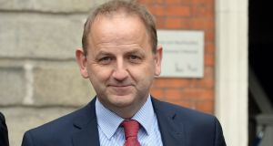 Sgt Maurice McCabe leaving the Disclosures Tribunal at Dublin Castle. Photograph: Cyril Byrne / The Irish Times