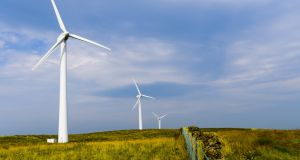 So far this year, 27.5% of Irish electricity production has come from wind energy. Photograph: iStock