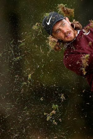England's Tommy Fleetwood in action during the first round  of the English Masters. Photograph: Andrew Boyers/Reuters