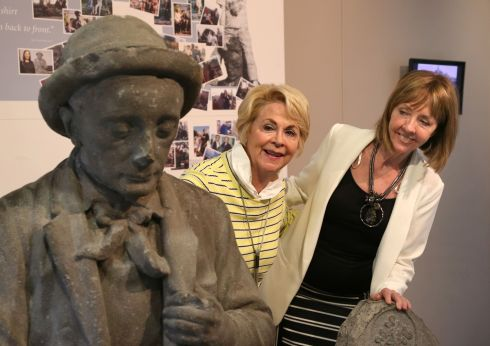 Presidential candidate Joan Freeman with her cousin-in law, Carolyn Shiels from Salthill, at Galway City Museum during her visit to Galway city on Thursday. Photograph: Joe O'Shaughnessy