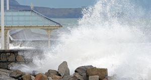 High waves wash over the bandstand, in Dun Laoghaire. File photograph: Eric Luke