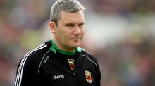 "Mayo manager James Horan: ""Anyone I have talked to is very keen to be involved in the trials and get cracking."" Photograph: Inpho"