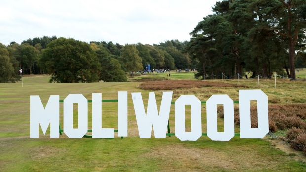 The MoliWood sign at Walton Heath. Photo: Andrew Redington/Getty Images
