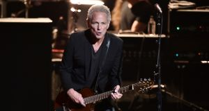 Lindsey Buckingham performing with  Fleetwood Mac  during MusiCares Person of the Year honouring Fleetwood Mac at Radio City Music Hall, New York, in   January.  Photograph: Steven Ferdman/Getty Images