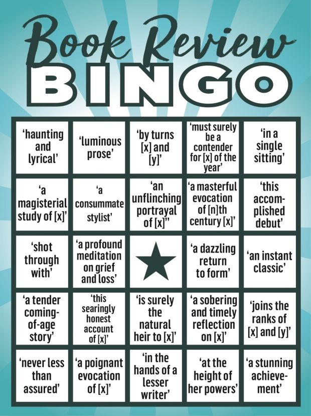 Book Review Bingo: critics are hailing it as a 'remarkable achievement'