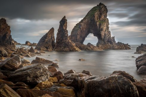 Winner of An Taisce Clean Coasts' Love Your Coast Photography Competition Coastal Landscape Category, Photographer Damien Long, Sea Arch at Crohy Head, taken at Crohy Head, Donegal