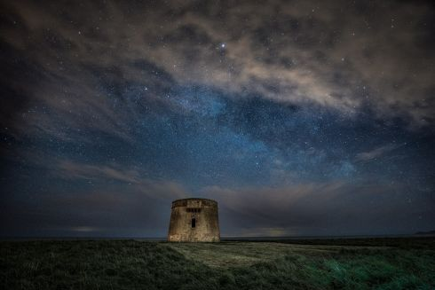 Winner of An Taisce Clean Coasts' Love Your Coast Photography Competition Coastal Heritage Category, Photographer Derek Balfe, Drumanagh Under the Stars, taken at Loughshinny, Donegal