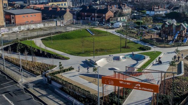 Weaver Park: one of Dublin's newest parks, part of the Greening the Liberties initiative. Photograph: Ben Ryan