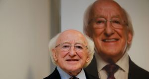 President Michael D Higgins: said it would be a good idea to bring out an annual report on  Arás spending.  Photograph:  Nick Bradshaw/The Irish Times