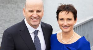 Presidential candidate Seán Gallagher  and his wife Trish. Photograph:  Kinlan Photography