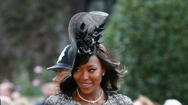 Model Naomi Campbell arrives to attend the wedding of Britain's Princess Eugenie to Jack Brooksbank. Photograph: Getty