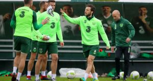 Ireland's Harry Arter during training ahead of the Nations League matches against Denmark and Wales. Photo: Ryan Byrne/Inpho