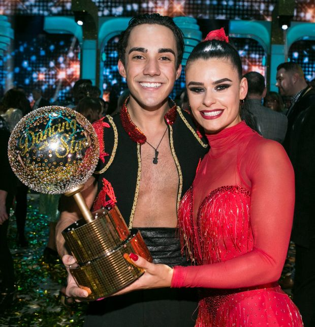 Jake Carter and Karen Byrne winning top prize on Dancing with the Stars