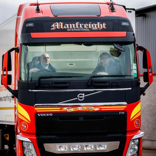 Brexit challenge: haulier Stephen Heasley and Irish Times journalist Simon Carswell. Photograph: Liam McBurney