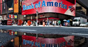 Bank of America will be posting its latest results, as will Bellway, eBay, Goldman Sachs, Netflix, Johnson & Johnson, Morgan Stanley, among others. Photograph: Jeremy Bales/Bloomberg