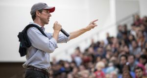 Lone Star state: Beto O'Rourke at a rally in Texas this week. Photograph: Loren Elliott/Getty