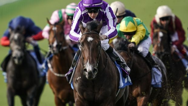 Donnacha O'Brien and Sergei Prokofiev took the opener at Newmarket. Photograph: Alan Crowhurst/Getty