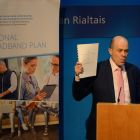 Plan A –  Denis Naughten, then minister for communications, announces details of the National Broadband Plan in April 2017. Photograph: Cyril Byrne