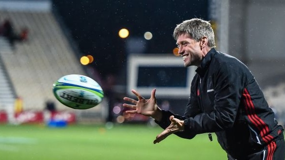 "Crusaders assistant coach Ronan O'Gara: ""Exeter are highly organised. I don't think there's any area on the pitch that they don't have a plan for."" Photograph: John Davidson/Inpho"