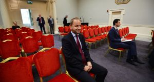 Garda whistleblower Sgt Maurice McCabe at the first day of the Charleton tribunal. File photograph: Alan Betson